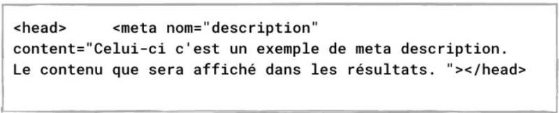 méta description code html