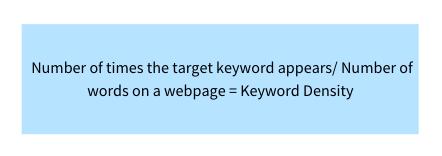 how keyword density is calculates