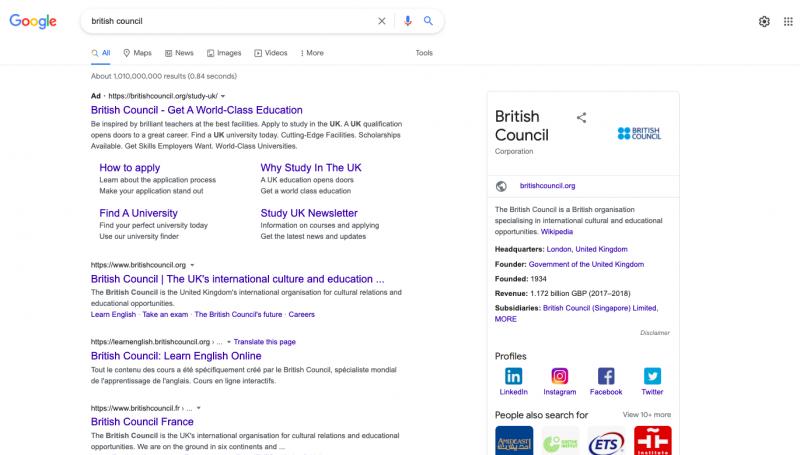 British council query