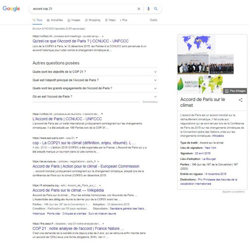 Exemple recherche informationnelle