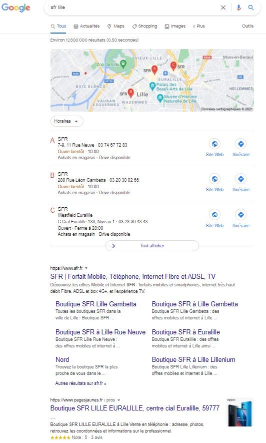 exemple recherche navigationnelle