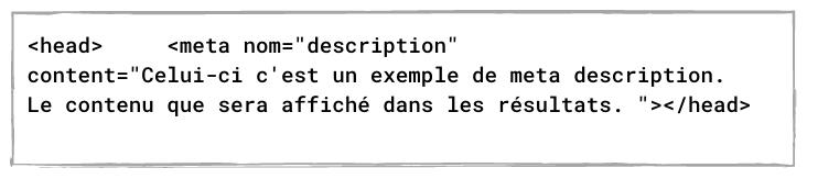 code meta description example