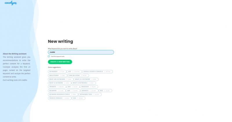 Writing assistant tool cocolyze