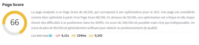 Page score Cocolyze